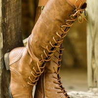 Cross The Line Boots-Cognac