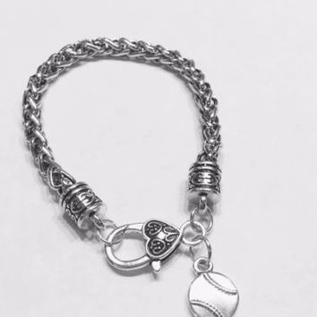 Baseball Softball Sports Mom Daughter Mother's Day Gift Charm Bracelet