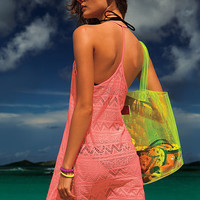 Crochet Cover-up - PINK - Victoria's Secret
