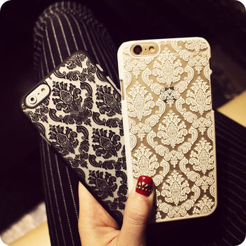Damask Vintage Flower Pattern Luxury Back Cover Coque for iPhone 4 4S 5 5S SE 5C 6 6S 7 Plus case Fundas