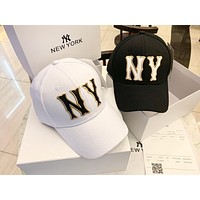 GUCCI x MLB Joint brand new tide brand embroidery letters men and women caps baseball cap