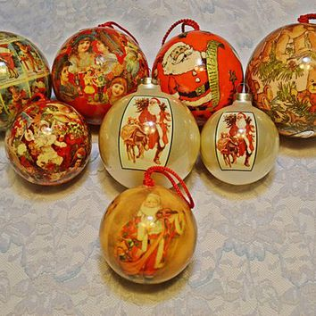 Best Decoupage Christmas Ornaments Products on Wanelo