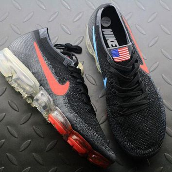 DCCKGV7 Best Online Sale Nike Air VaporMax Vapor Max 2018 Flyknit Men American Flag Sport Running Shoes 849558-018