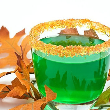 Fall colored cocktail sugar crystals - rim party signature drinks - bulk order for 75 glasses