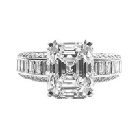 5.63 Cartier Paris Emerald Cut Diamond Ring E VS 1