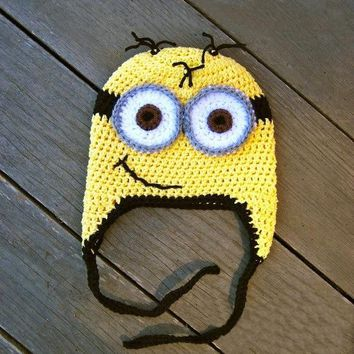 crochet minion hat ,crochet beanie hat ,beanie babies ,halloween costume ,toddler girl hats ,girls clothing ,Christmas gift