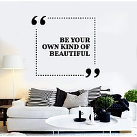 Vinyl Wall Decal Quote Inspiration Girl Room Beauty Salon Stickers Unique Gift (ig3777)