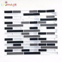 Self Adhesive Mosaic Tile Wall decal Sticker DIY Kitchen Bathroom Home Decor Vinyl W4