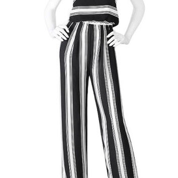 Karina Striped Tie Back Jumpsuit
