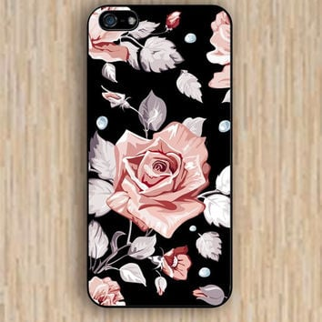 iPhone 5s case rose black colorful case iphone case,ipod case,samsung galaxy case available plastic rubber case waterproof B015
