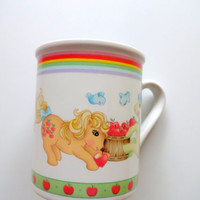 Vintage My Little Pony Coffee Mug 1985