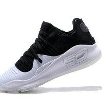 VONE4TH VAWA Men's Under Armor Curry 4 Low-Cup Shoes Basketball Shoes #1802 Black White