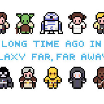Star Wars Characters Cross Stitch Pattern (PDF) INSTANT DOWNLOAD