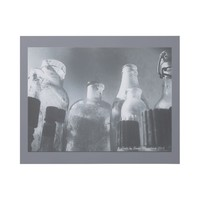 Grungy Monochrome Photo of Antique Glass Bottles Gallery Wrap