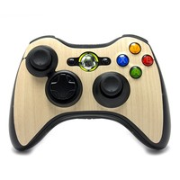 Xbox 360 Controller Remote Cover/Skin - Maple Wood from Slickwraps