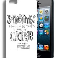 Religious Christian Cute Inspirational Quote Iphone 5 and 5s Case