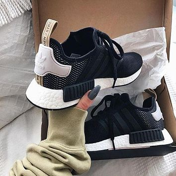 ... a few days away b4a28 97c34 Adidas NMD R1 Boost Women Trending Running  Sports Shoes Sneakers ... 3e97088982