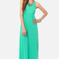 Walk the Walk Teal Maxi Dress