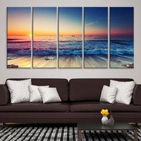 56592 - Sunset on the Beach Wall Art Canvas Print
