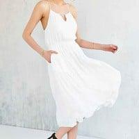 Alice X UO Bibi Satin Midi Dress-