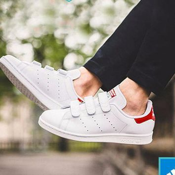 Adidas Stan Smith CF White/Red-S80041