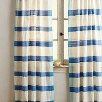 Sanaga Stripe Curtain by Anthropologie in Blue Size: