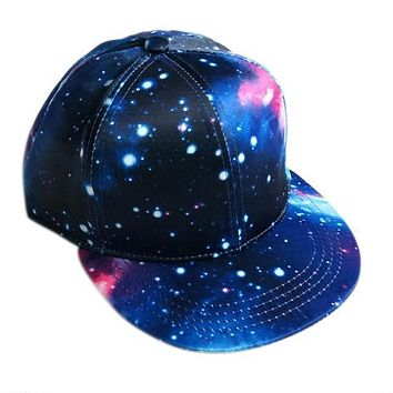 2017 new fashion Flower Hip-Hop Baseball Cap Outdoors Flat Snapback Hat gorras planas hip hop galaxy snapback