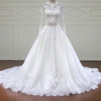 Wedding Dresses with jacket Appliques Bridal Gowns Wedding Dress