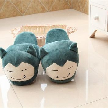 Anime Cartoon Pokemon Slippers Elf Ball Eevee Umbreon Go Pikachu Plush Shoes Home Hous