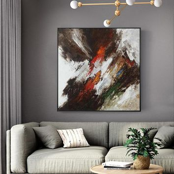 Modern art abstract Painting on canvas Original texture red acrylic painting large canvas art wall pictures home decor cuadros abstractos