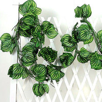 Fake Watermelon Leaf Rattan Green Plant Wedding Home Garden Decoration Beauty 3C