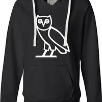 Black Ladies Owl Ovo Ovoxo Drake October's Very Own Deluxe Soft Fashion Hooded Sweatshirt Hoodie - XL
