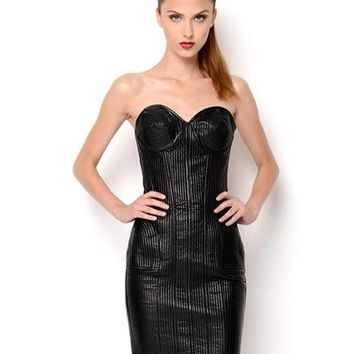 Jean Paul Gaultier Femme Genuine Leather Corset Style Dress - Made in Italy - Jean Paul Gaultier from $55 - Modnique.com