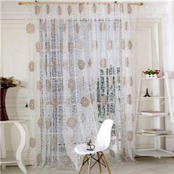 Room Floral Tulle Window Screening Curtain Drape Panel Decal Scarf Curd Valances