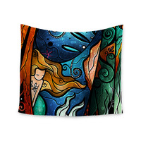 "Mandie Manzano ""Fathoms Below Mermaid"" Wall Tapestry"