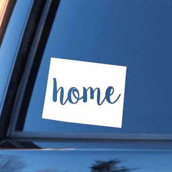 Wyoming Home Decal | Wyoming Decal | Homestate Decals | Love Sticker | Love Decal  | Preppy | Country Decal | Car Decal | Car Stickers | 142