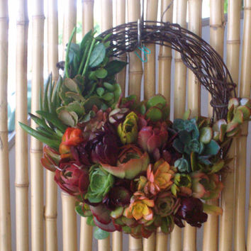 SPECIAL 13inch Willow Branches Living Wreath