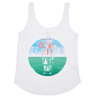 Billabong Women's Salty Ocean Tank Top White