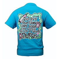 SALE Southern Chics Funny Shot Givin Nurse RN CNA LPN RNA BROWN Nurses Girlie Bright T Shirt