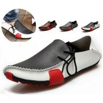 VONEC2O Summer&Autumn Fashion Mens Casual Genuine Leather Flats Driving Moccasins Slip On Men Boat Shoes