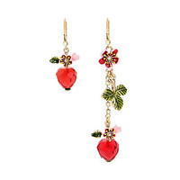 TROPICAL PUNCH CHERRY MISMATCH EARRINGS: Betsey Johnson