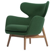 Judsun Fabric Accent Chair Natural Legs, Forest Green