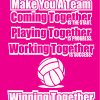 Custom Motivational Volleyball Apparel (Together)