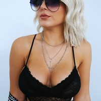 Make My Way Bralette: Black