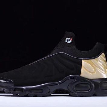 "VOND4H Nike Air Max Plus Slip SP TN Retro Running Shoes ""Black&Gold�,Nike Air Max Plus Slip SP TN Retro Running Shoes ""Black&Gold""size:40-45"""