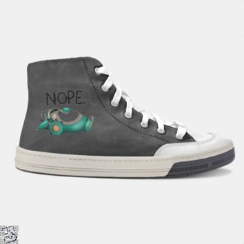 Nope Snorlax, Funny Skate Shoe