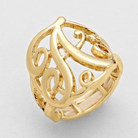 Variety Of Letters Gold Monogram Rings