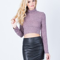 Winter Nights Turtleneck Crop Top