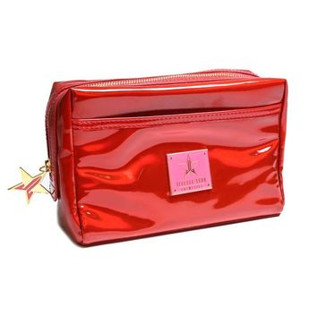 Holographic Red Makeup Bag