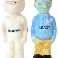 MUMMY & DEADY SALT & PEPPER SHAKERS